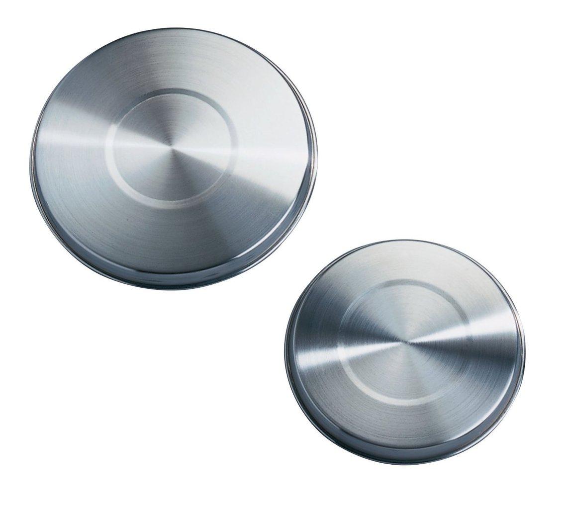 Wenko 2235504100 set 4 piastre protettive in acciaio inox per piano cottura elettrico 2 x 16 - Piastre per cucinare elettriche ...