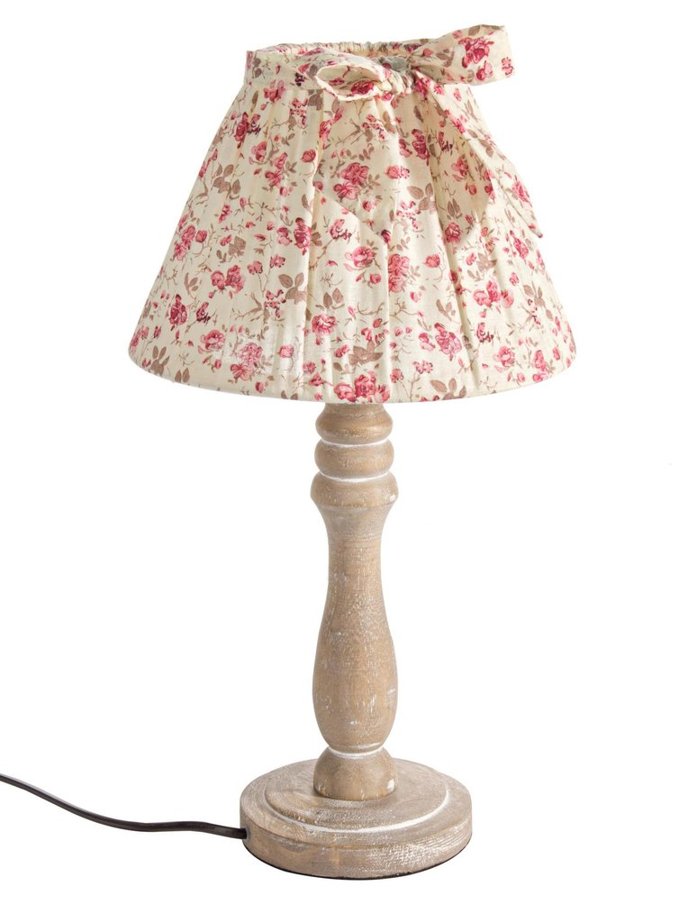 Lampada abat jour roselline shabby compra online rosi store - Abat jour shabby ...