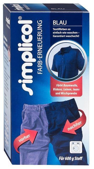 Detergenti Ecologici : Colorante per tessuti ravviva colore blu simplicol compra