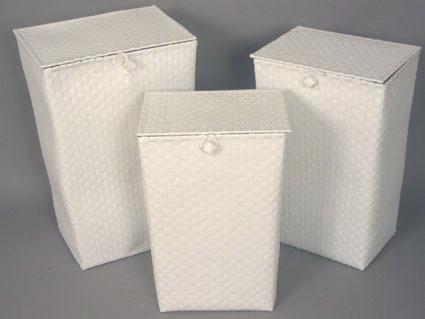 33x25x50 cesto portabiancheria bianco compra online rosi - Portabiancheria design ...